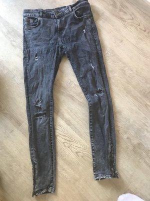 Zara Trafaluc Jeans elasticizzati grigio-grigio scuro