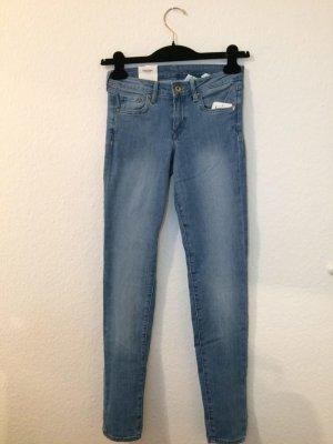 H&M Vaquero skinny azul claro Algodón