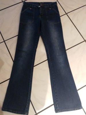 Boot Cut Jeans blue cotton