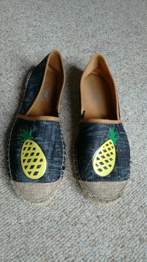 Jeans Espadrilles mit Patch Ananas