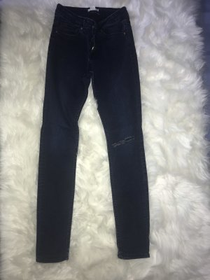 H&M Tube Jeans dark blue