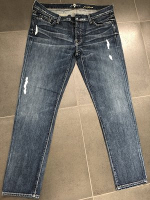 7 For All Mankind Boyfriend Jeans dark blue cotton