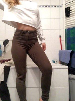 Tally Weijl Jeans a vita alta grigio-verde-verde oliva