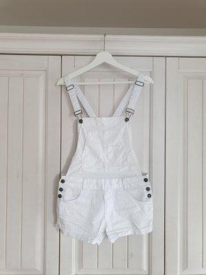 jeans FB Sister S Latzhose 2teiler 2 teiler latzshorts short weiß hose jumpsuit overall