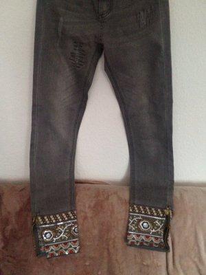 Desigual Cargo Pants grey cotton