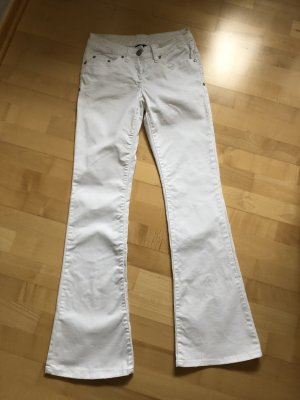 Flame Boot Cut Jeans white
