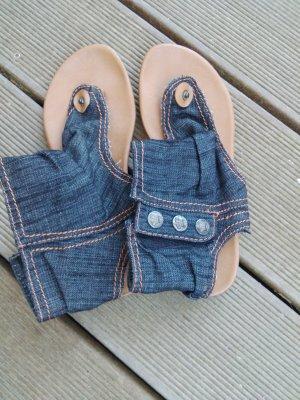 Jeans Flip Flops mit hohem Schaft