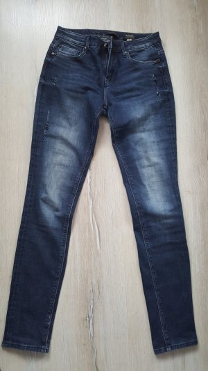 Francomina Skinny Jeans steel blue cotton