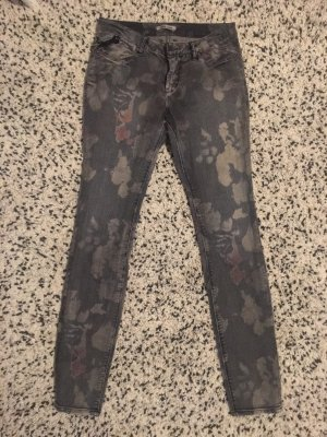 Garcia Jeans Jeans taille basse gris-or rose
