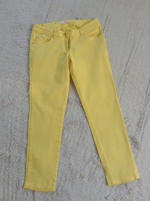 Pantalon taille basse jaune