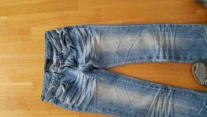 Jeans gerader Schnitt Stonewashed von Monday Premiuma