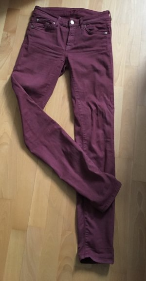 7 For All Mankind Jeans viola-bordeaux