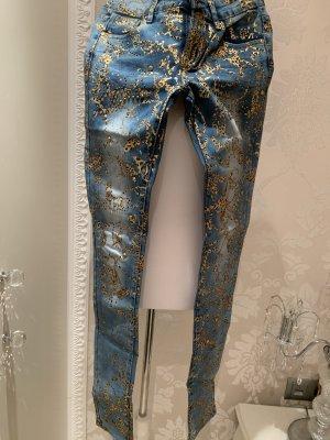Jeans gr 28 stretchig mit strass