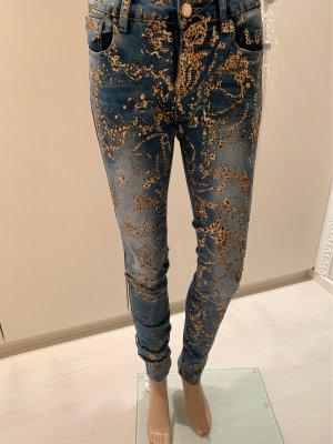 Jeans gr 28 stretchig mit strass keine Rückgabe