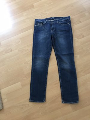 7 For All Mankind Jeans slim bleu foncé-bleu coton