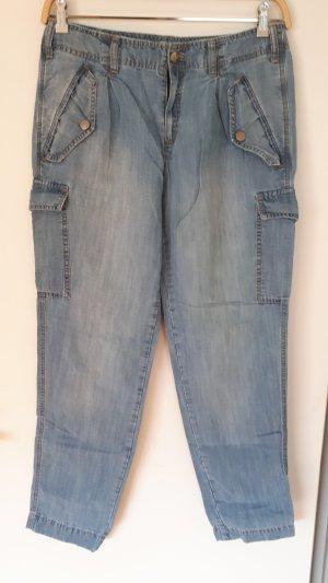 Oui Set Low Rise Jeans cornflower blue