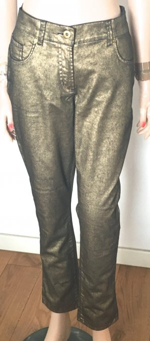7/8 Length Jeans gold-colored