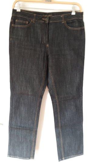 Marco Pecci Hoge taille jeans zwart Katoen