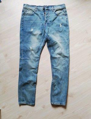 Amisu Jeans met rechte pijpen blauw