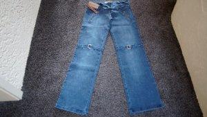 Jeans coupe-droite gris ardoise coton