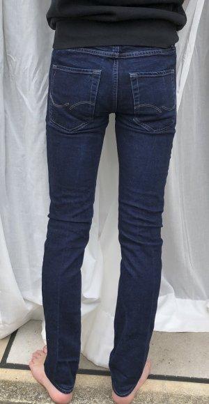 Jack & Jones Jeans slim bleu foncé coton
