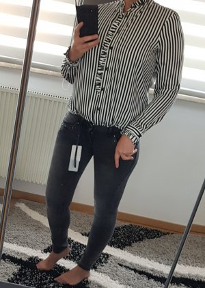 Only Low Rise jeans antraciet-donkergrijs