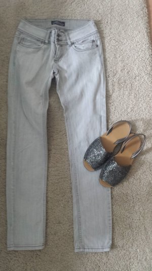 Jeans grau Gr.M Röhrenjeans low waist