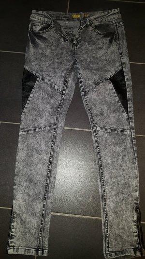 Jeans grau Schwarz skinny
