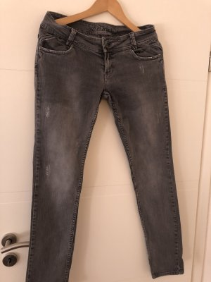 Fishbone Jeans taille basse gris