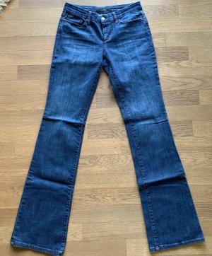 Joe's jeans Broek met wijd uitlopende pijpen blauw Katoen
