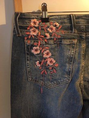 Guess Jeans skinny rosa chiaro-blu acciaio