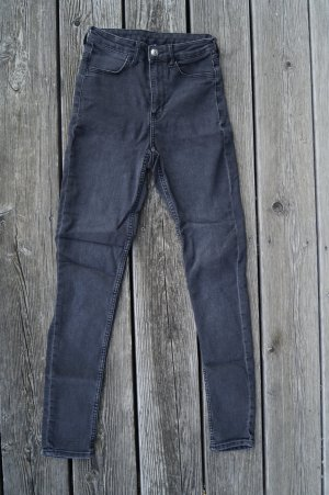 H&M Divided Hoge taille jeans zwart-antraciet Katoen