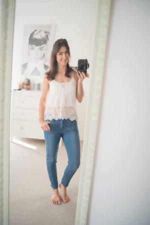 Jeans H&M blau denim Röhrenjeans