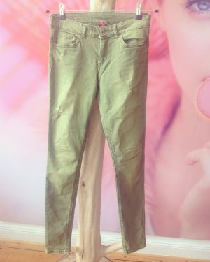 Jeans H&M Denim Oliv Vintage Stretch Streetstyle Streetlook Gr. 38