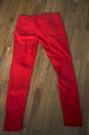 Jeans H&M Röhrenjeans rot
