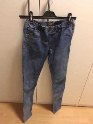 Bershka Skinny jeans leigrijs-staalblauw