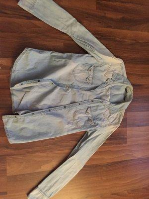 Zara Spijkershirt lichtblauw