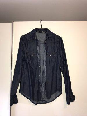 Tally Weijl Camisa vaquera azul oscuro