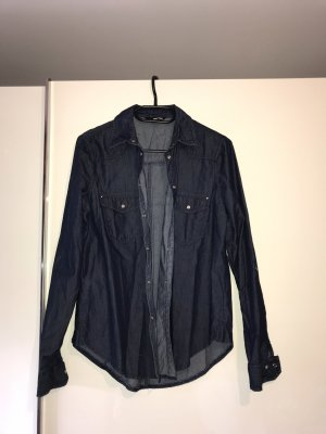 Tally Weijl Denim Shirt dark blue