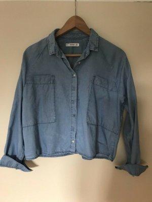 Mango Shirt Blouse cornflower blue-azure