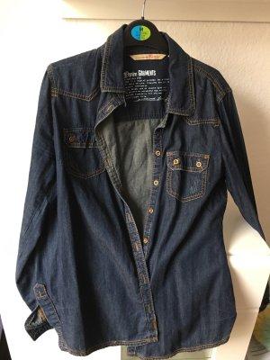 Tom Tailor Denim Spijkershirt donkerblauw