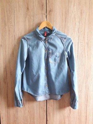 Jeans Hemd blau Gr. 34