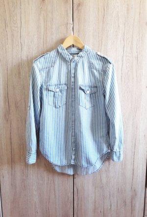 Jeans Hemd blau/weiß gestreift Gr. 34