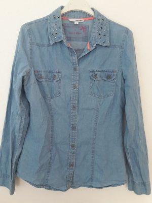 Jeans Hemd Blus mit Nieten