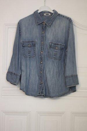 Chemise en jean bleuet coton
