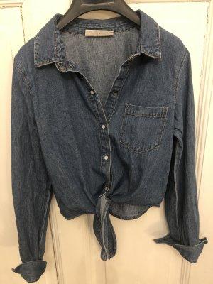 Noisy May Blouse en jean bleu