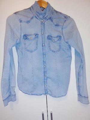 Jeans Hemd Damen Hell