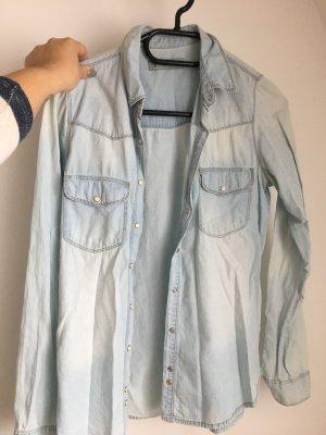 Pull & Bear Spijkershirt lichtblauw