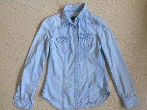 H&M Spijkershirt azuur