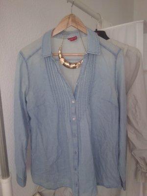 H&M Camisa vaquera azul celeste-azul bebé Algodón